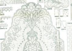 Старое искусство филе салфетка крючок схема 2