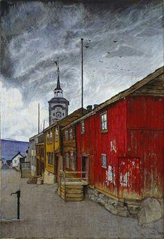 Harald Sohlberg Street in Roros, 1902
