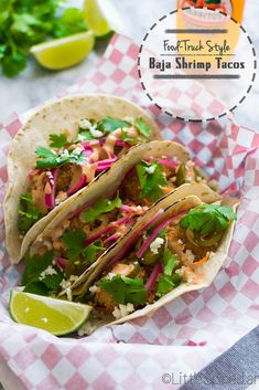 Food Truck Style - Baja Shrimp Tacos with Chipotle Mayo | Little Spice Jar