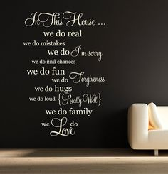 Words to build family life on