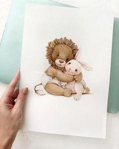 Доброе утро!🔆  .  К сожалению, у меня нет более качественной фотографии этого рисунка , но мне все равно очень хочется вам его показать ) Иллюстрация для маленького Льва )👼🏼#tanya_bonya Baby Animal Drawings, Cartoon Drawings, Painting For Kids, Art For Kids, Dance Paintings, Cartoon Profile Pics, Childrens Wall Art, Baby Embroidery, Color Pencil Art