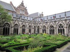The Pandhof (courtyard) of the Dom church in Utrecht