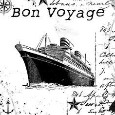 **FREE ViNTaGE DiGiTaL STaMPS**: Free Vintage Digital Stamp - Bon Voyage!