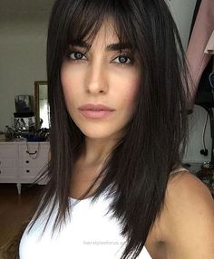 Wonderful Stick-Straight Black Hair with Long Parted Bangs The post Stick-Straight Black Hair with Long Parted Bangs… appeared first on Hairstyles .