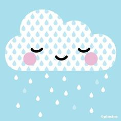 Pincinc, ☁Sleepy Rain Cloud © pincinc There is. Happy Valentine's Day Friend, Cloud Illustration, Rain Days, Cloud Vector, Rain Clouds, Happy Valentines Day, Make You Smile, How To Fall Asleep, Painted Rocks