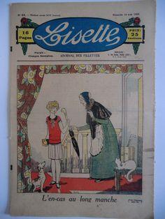 Revue Illustrée Lisette N°32 1930 Lecture Broderie Tricot Recette | eBay