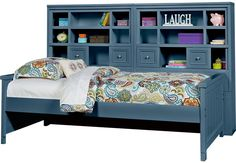 Shop for a Cottage Colors Gray 5 Pc Full Bookcase Wall Bed at Rooms To Go Kids. Find that will look great in your home and complement the rest of your furniture. Bedroom Furniture Stores, Kids Room Furniture, Grey Furniture, Kitchen Furniture, Furniture Decor, Bedroom Sets, Girls Bedroom, Bedroom Decor, Wood Bedroom