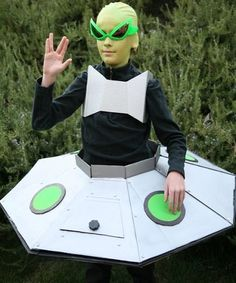Disfraces caseros originales para niños Carnaval 2014 alien