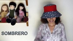 How to make a cloth hat for women MaríadelPilar Sáurez Jimenez Hats For Women, Youtube, Sewing, How To Make, Clothes, Blog, Ideas Para, Pdf, Patterns