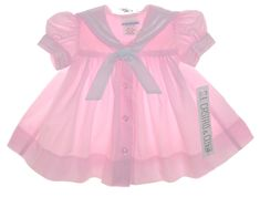 NEW C. I. Castro Pink Sailor Dress for Babies $45.00