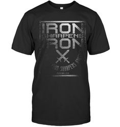 Iron Sharpens Iron T Shirt Holy Christian Bible Verse Custom Shirts, Bible Verses, Addiction, Iron, Christian, Mens Tops, T Shirt, Custom Tailored Shirts, Supreme T Shirt