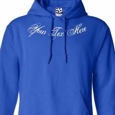 Custom Script /& Tail HOODIE Personalized Baseball Sweatshirt  All Sizes /& Colors