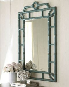 Blue Bamboo Mirror - asian - mirrors - - by Beth Connolly