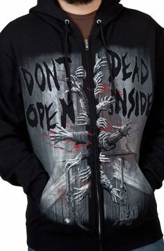 Dead Inside Walking Dead Hoodie: The Walking Dead Mens Hoodies