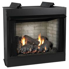 Premium Vent-Free See-Through Fireplace, Natural Gas