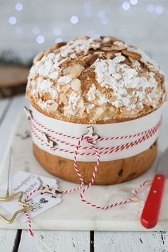ricetta-panettone-facile-fatto-in-casa-lievito-di-birra Xmas Food, Christmas Cooking, Christmas Desserts, Italian Desserts, Italian Recipes, Sweet Recipes, Cake Recipes, Pan Dulce, Holiday Baking