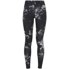 Nike Leggings ($42) ❤ liked on Polyvore featuring pants, leggings, black, legging pants, cotton pants, cotton leggings, form fitting leggings and patterned pants