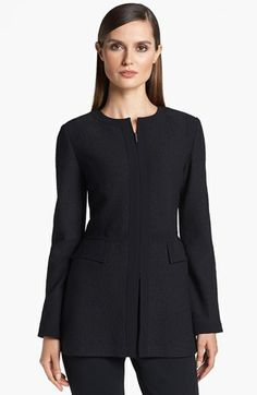 St. John Collection Long Bouclé Knit Jacket available at #Nordstrom