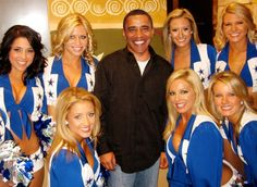 #OBAMA #Cowboys #Cheerleaders #funny #portrait #President #DCC #Dallas  Anyone who were to truly believe that this is Obama and not his head clearly photoshopped on a body, is stupid.