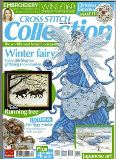 Cross Stitch Collection 178 2009.Winter fairy; horses, critters, winter scene, Christmas cards, knitting needle holder