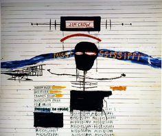 03d6ba90136a5b 1987 J.M. Basquiat Eroica Acrylique Crayon gras et photocopie collée sur  papier marouflé sur toile 228