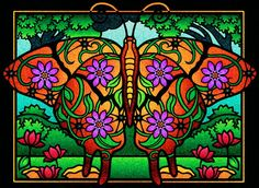 Sarah Hardin (18+ division) from Fanciful Butterflies Stained Glass Coloring Book