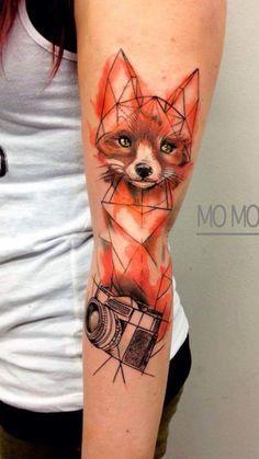 Fox Tattoo// Forearm Tattoo// Tattoo Ideas// Color Tattoo Ideas// Animal Tattoo