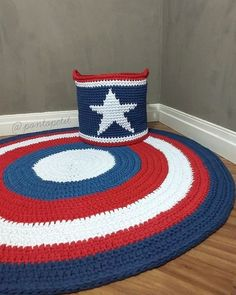 Diy Crochet Basket, Crochet Mat, Crochet Carpet, Love Crochet, Knitting Designs, Knitting Patterns, Crochet Patterns, Crochet Chain Stitch, Crochet Shoulder Bags