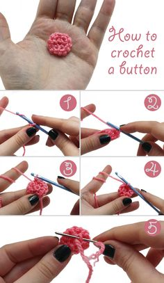 How to Crochet a Button via @Rachel Hobson of @Jamie Wise Dorobek {C.R.A.F.T.}.