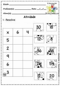 Multiplication Activities, Math Worksheets, Math Activities, 2nd Grade Math, Math Class, Math Sheets, Eureka Math, Montessori Math, Primary Maths