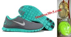Womens Nike Free 4.0 V2 Cool Grey Reflective Silver Tropical Twist Running Shoes