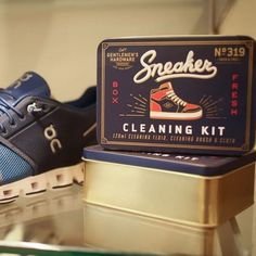 Repost @gentlemenshardware Thanks for sharing this shot of our Sneaker Cleaning Kit on display in your store @shopwalkerbrothers! A great gift for Dad's who love their kicks! 👟 #funstartshere #sellingthingsthatmakepeoplehappy #coolkicks #cleansneaks #sneakerlove #cleankicks #sneakeraddict Great Gifts For Dad, Thanks For Sharing, Cleaning Kit, Kicks, Sneaker, Dads, Thankful, Display, Gift Ideas