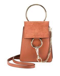 c67483b422 Chloe Faye Leather Suede Bracelet Crossbody Bag