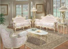 Victorian Living Room. Gmas already letting me have her furniture this looks like a nice update to it