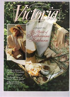 Victoria Magazine August 1991 A Toast to The Spirit of Katherine Hepburn | eBay