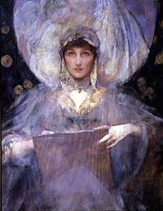 Portrait of Violet Manners, Duchess of Rutland - ca. 1900 - Sir James Jebusa Shannon.