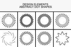 Dotted design elements. by ExpressShop on @creativework247