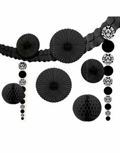 Black Damask Party Decorating Kit - Party City $9.99