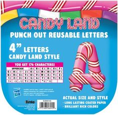 Amazon.com : Eureka Candy Land Pepper Stripes Deco Letters : Childrens Paper Craft Kits : Toys & Games