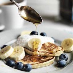 Heidelbeerpancakes mit Banane | Weight Watchers