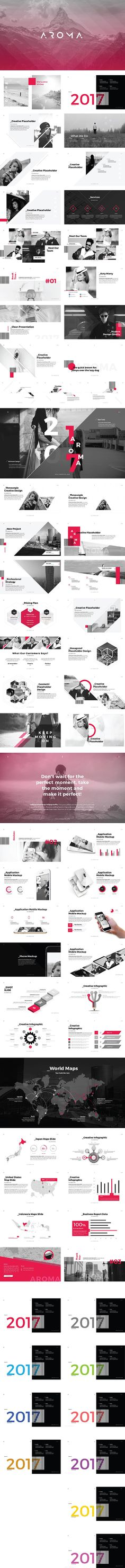 AROMA - Modern Business PowerPoint Template