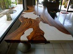 Suar w/ Stone Inlay Table