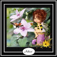 Tinkerbell, Disney Characters, Fictional Characters, Humor, Disney Princess, Art, Cuddle, Bees, Summer