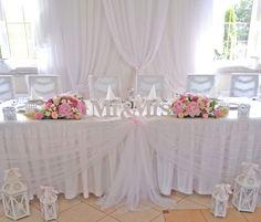 wystrój sali weselnej w pastelach