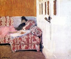 On the Sofa (also known as In the White Room) / Edouard Vuillard - circa 1892-1893