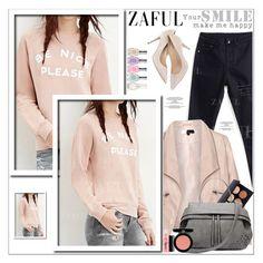 """""""Zaful 21"""" by sabinakopic ❤ liked on Polyvore featuring Zizzi, MAC Cosmetics, Armani Beauty, Sally Hansen, bestylish, zaful and lovezaful"""