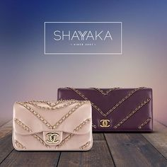 Chanel Flap Bag in Light Pink Metallic Lambskin and Gold Hardware | 13.5 x 21 x 9 cm | Chanel Fall/Winter 2016-2017 Pre-Collection | Available Now  Chanel Clutch in Purple Lambskin and Gold Hardware | 12 x 26 x 8 cm | Chanel Fall/Winter 2016-2017 Pre-Collection | Available Now  For purchase inquiries, please contact sales@shayyaka.com or +961 71 594 777 (SMS, WhatsApp, or iMessage) or Direct Message on Instagram (@Shayyaka). Guaranteed 100% Authentic | Worldwide Shipping | Bank Transfer
