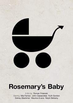 'Rosemary's Baby' pictogram movie poster by Viktor Hertz, via Flickr