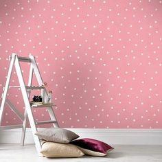 vliesbehang stip roze (dessin 33-152) | Kinderbehang | Behang | KARWEI