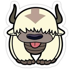 Avatar stickers featuring millions of original designs created by independent artists. Kawaii Stickers, Anime Stickers, Cool Stickers, Printable Stickers, Laptop Stickers, Appa Avatar, Doodles, Avatar The Last Airbender Art, Tumblr Stickers